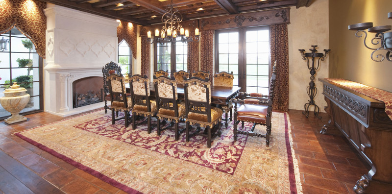 Grand Dining Room Designed by Park Avenue Fabrics - Interior Design and Upholstery Experts in Augusta GA
