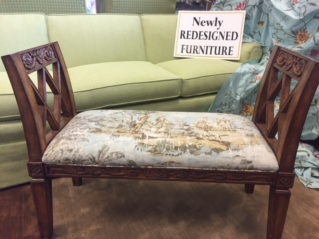 Newly Upholstered Sitting Bench By Park Avenue Fabrics   Interior Design  And Upholstery Experts In Augusta