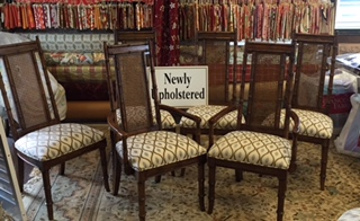 Newly Upholstered Dining Room Chairs By Park Avenue Fabrics   Interior  Design And Upholstery Experts In