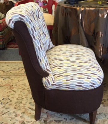 Newly Upholstered Chair By Park Avenue Fabrics   Interior Design And  Upholstery Experts In Augusta GA